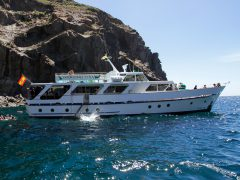 On board of the Tina you will enjoy the coast of La Gomera